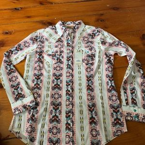 Wrangler Aztec Southwest Button Up Shirt - NWT -